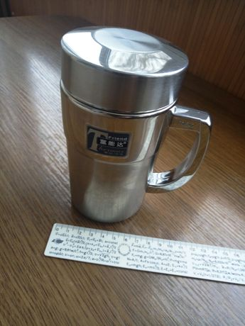 Чашка термос из нержавейки для заваривания чая