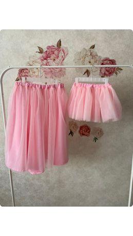 Юбки с фатина для мамы и дочки.