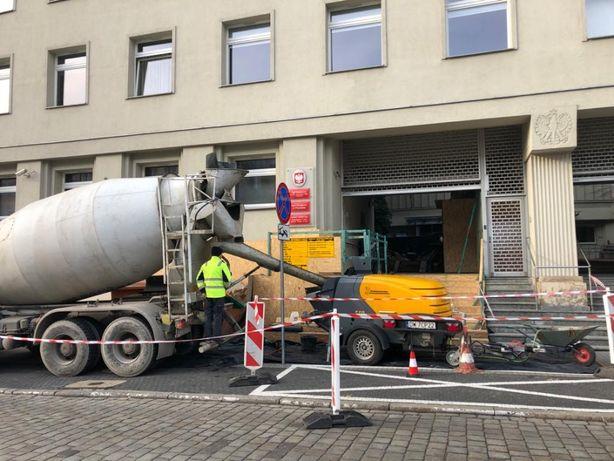 Pompa do betonu, pompowanie betonu