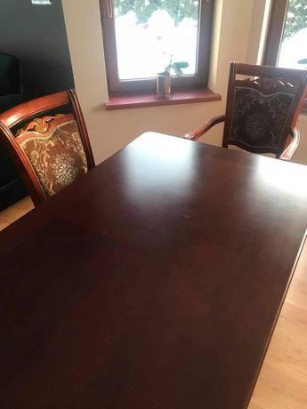 Stół drewniany (90x160)+6 krzeseł