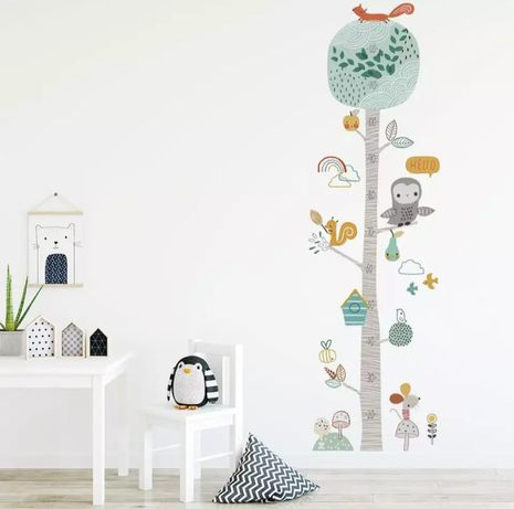 Ростомер детская наклейка на стену интерьерная виниловая зростомір