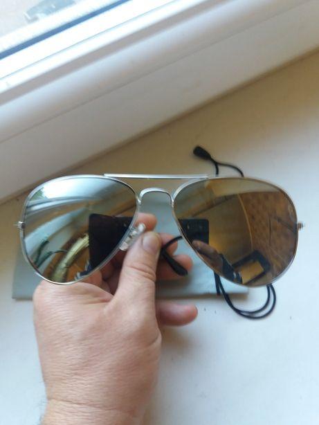 Очки солнцезащитные авиаторы зеркальные