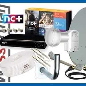 Antena Satelitarna z Dekoderem NC plus Zestaw Sat z Montażem i Kablami