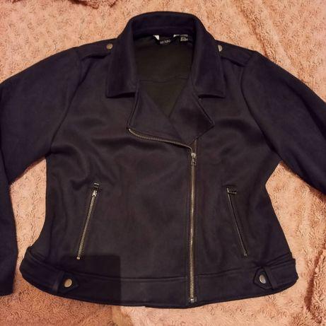 Крутая куртка косуха замша