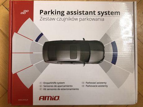 Czujniki parkowania AMIO Buzzer 4 sensory czarne