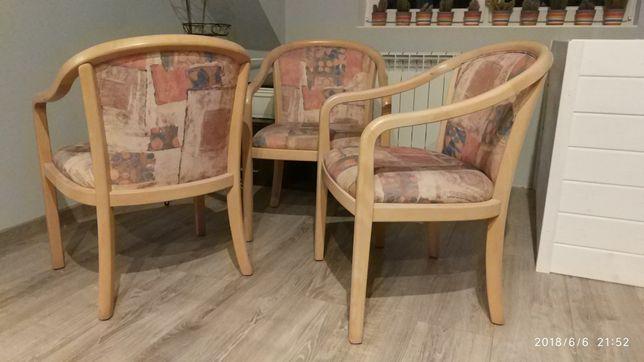 Komplet 4 krzeseł, krzesła zestaw, drewniane