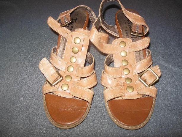 Sandały sandałki TAMARIS 37 jak NOWE