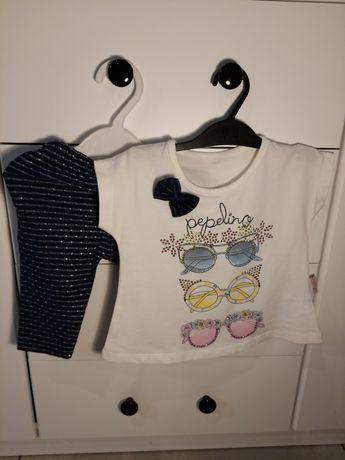 Komplet koszulka+leginsy r. 80
