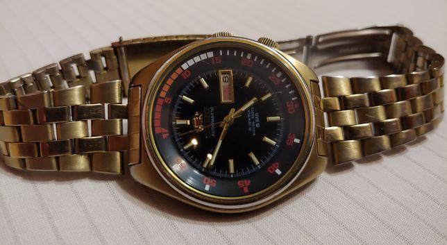"""Японские часы """"Orient"""" Japan в корпусе золотого цвета времён ссср."""