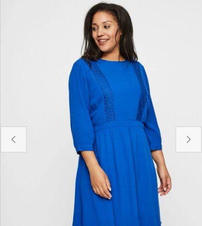 Nowa kobaltowa sukienka Yunarose rozmiar 48