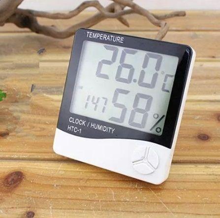 Термометр Гигрометр часы будильник HTC-1.