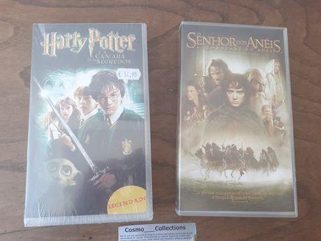 VHS o senhor dos anéis a irmandade do anel e Harry Potter e a Câmara d