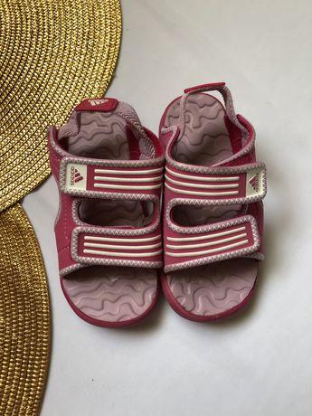 Сандалии пенка Adidas спортивные розовые для девочки легкие боссоножки