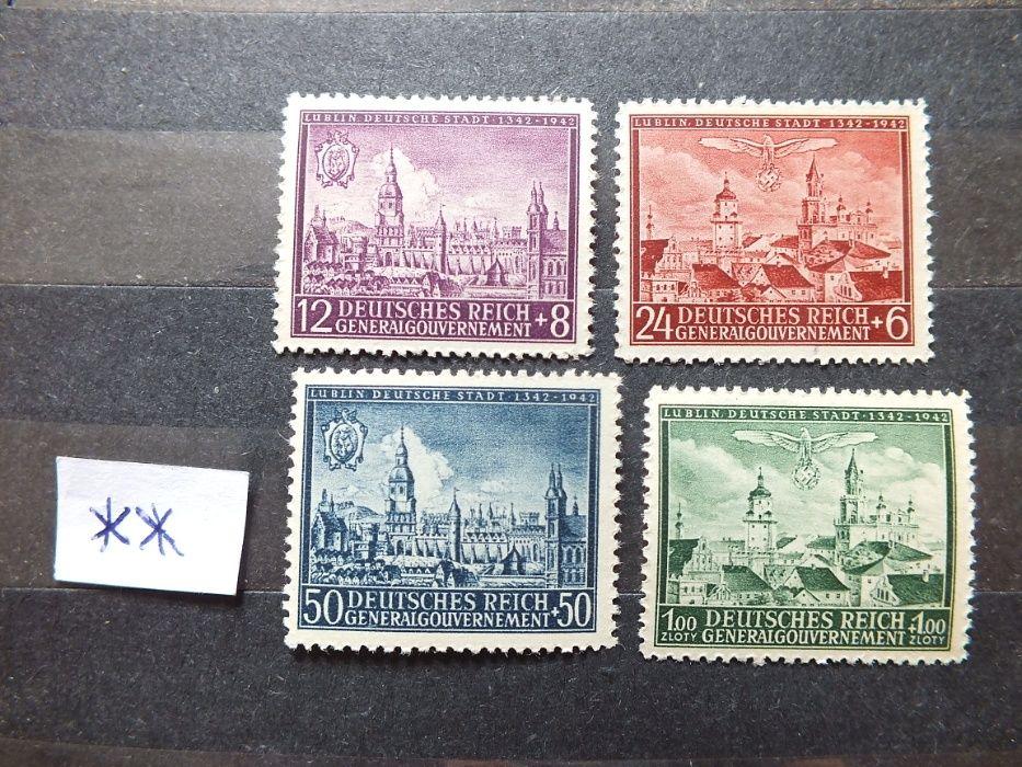 Znaczki Fi92/95 GG 1942r.Niemcy Rzesza stan**czyste Reich PMW swastyka Gdańsk - image 1