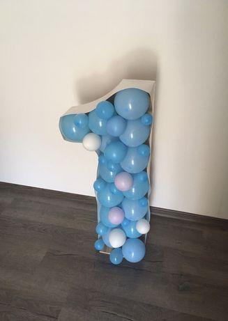 Цифра 1 один, единица 3D з кульками до Дня Народження (лише Луцьк)