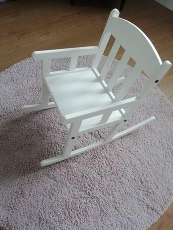 Krzesło bujane dla dziecka biale stan bardzo dobry