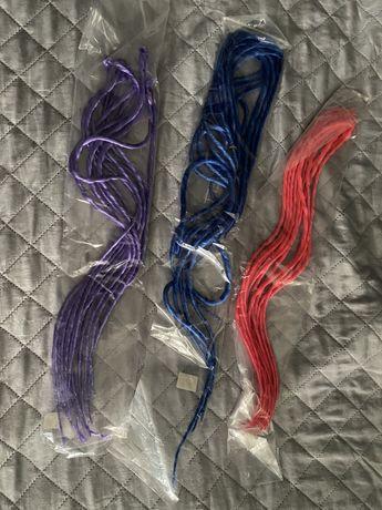 Włosy warkoczyki dredloki syntetyczne fioletowe niebieskie różowe