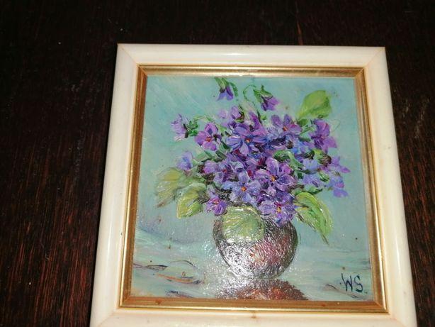 Mały ręcznie malowany obrazek 1