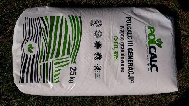 Nawóz Wapno granulowane, Polcalc 25kg
