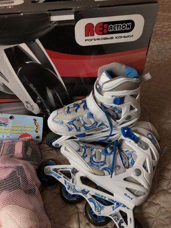 роликовые роздвижные детские коньки