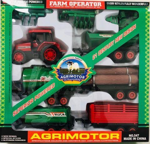 Zestaw traktor z ośmioma maszynami rolniczymi 4385