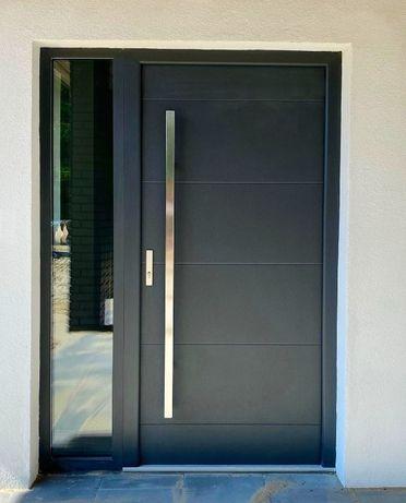 Drzwi wejściowe zewnętrzne drewniane od producenta dostawa gratis