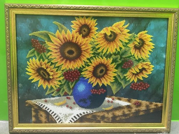 Картина ручной работы - вышивка чешским бисером