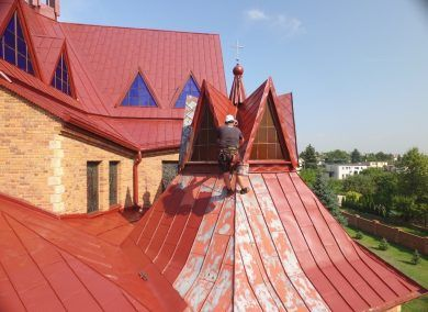 Malowanie dachów ,elewacji prace wysokościowe dachmal