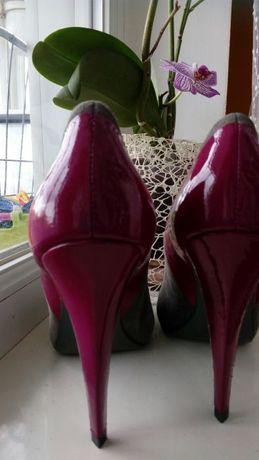 Туфли, натуральна замша. Середина натур.шкіра