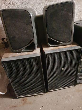 Głośniki kolumny Unitra 2x wieża Sony Thompsonic radio magnetofon