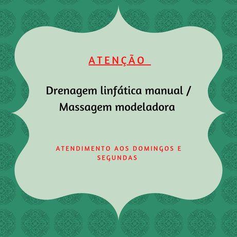 Massagem modeladora e drenagem linfatica manual (somente senhoras)