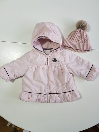 Kurtka + czapka dziewczęca 68 cm