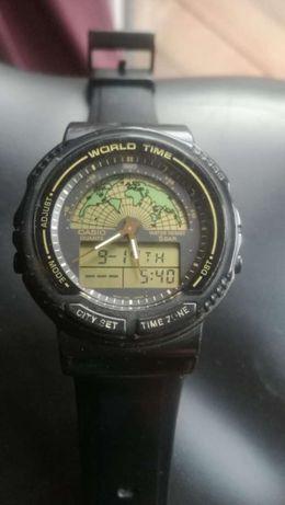Zegarek CASIO WORLD TIME AW 21U 5 BAR rzadki moduł 387
