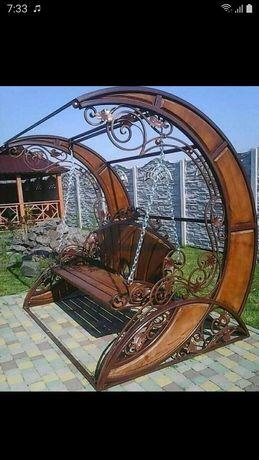 Двери ворота навесы беседки качели мангалы решетки кованые изделия