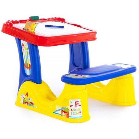 biurko dla malucha  stolik z ławeczką + akcesoria