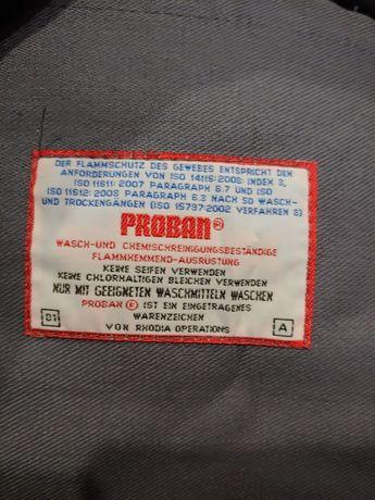 Спецодежда, куртка огнеупорная, Proban, для сварщиков