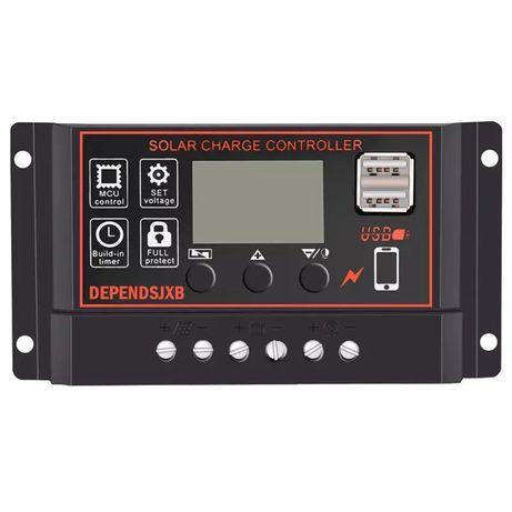 Kontroler do paneli solarnych 30A 12/24V kamper, przyczepa