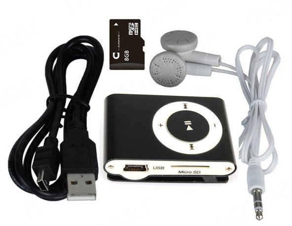 ODTWARZACZ MP3 Klips Słuchawki Kabel KARTA SD 8GB