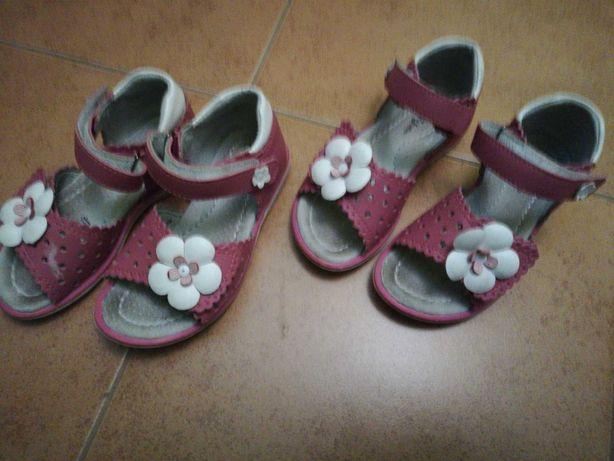 Sandały dla bliźniaczek 26