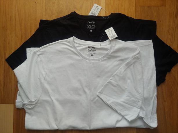 2-pack T-shirt xl George biały i czarny