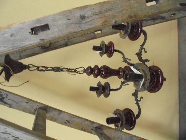 zabytkowy mosiężny żyrandol stary mosiężny żyrandol brąz mosiądz