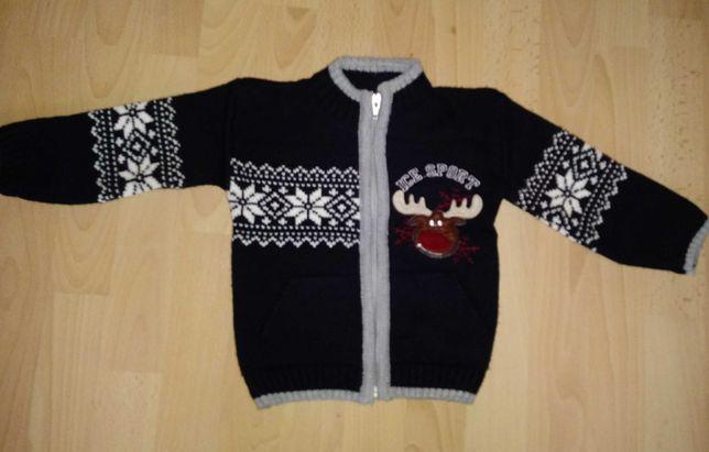 Granatowy elegancki sweterek rozmiar 80/86 stan idealny