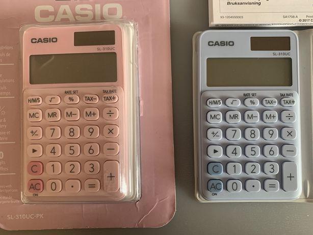 Calculadoras Casio cores pastel
