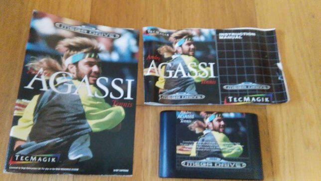 Andre Agassi Tennis Mega Drive Sega
