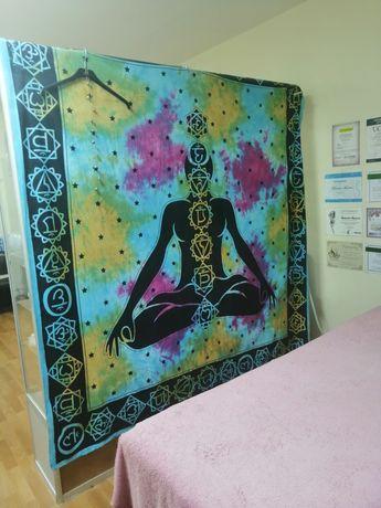коврик, покрывало, полотно на стену с чакрами, йога