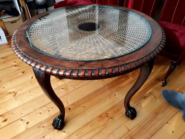 Stylowy stół drewniany antyk