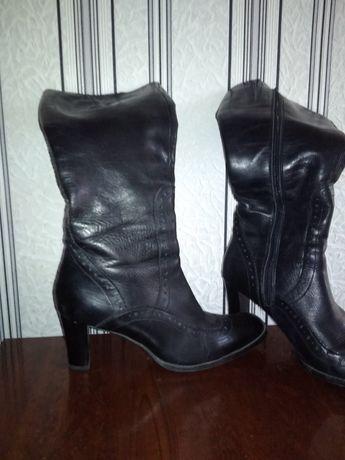 Сапоги женские кожаные 40р.
