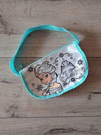Детская сумка-разукрашка раскраска Эльза