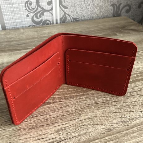 Кошелек, бумажник из натуральной кожи ручной работы GREMAR