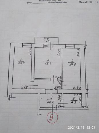 Продажа 2-х комнатной квартиры в г. Чоп